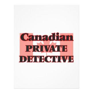 Canadian Private Detective 21.5 Cm X 28 Cm Flyer