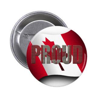 Canadian proud 6 cm round badge
