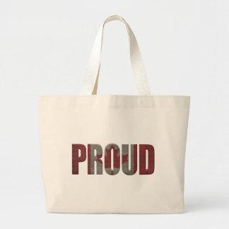 Canadian proud large tote bag