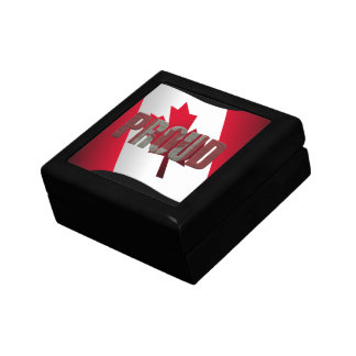 Canadian proud small square gift box