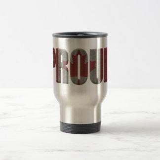 Canadian proud travel mug