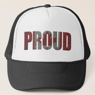 Canadian proud trucker hat