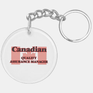 Canadian Quality Assurance Manager Double-Sided Round Acrylic Key Ring