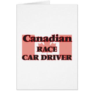 Canadian Race Car Driver Greeting Card