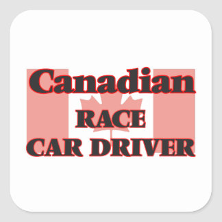 Canadian Race Car Driver Square Sticker