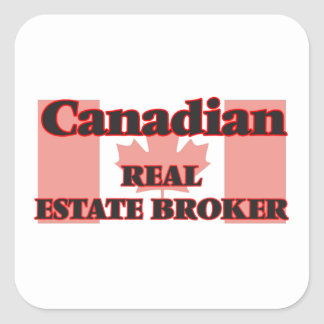 Canadian Real Estate Broker Square Sticker