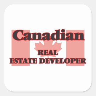 Canadian Real Estate Developer Square Sticker