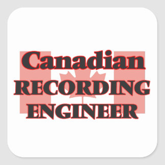 Canadian Recording Engineer Square Sticker