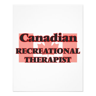 Canadian Recreational Therapist 11.5 Cm X 14 Cm Flyer