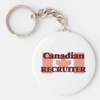 Canadian Recruiter Basic Round Button Key Ring