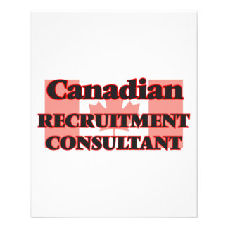 Canadian Recruitment Consultant 11.5 Cm X 14 Cm Flyer