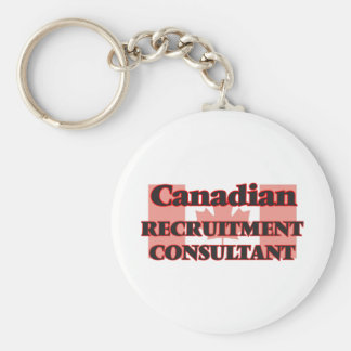 Canadian Recruitment Consultant Basic Round Button Key Ring