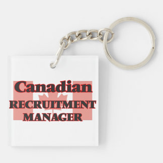 Canadian Recruitment Manager Double-Sided Square Acrylic Key Ring