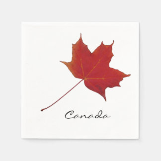 canadian red maple leaf disposable serviette