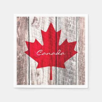 Canadian red maple leaf flag disposable serviette