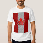 Canadian Red Maple Leaf in Carbon Fibre looks Tshirt
