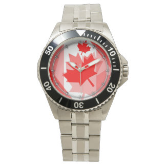 Canadian red Maple Leaf Layered Style CANADA Watch