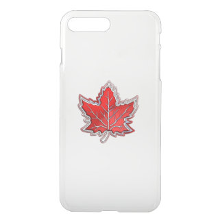 Canadian Red Maple Leaf on Carbon Fiber iPhone 8 Plus/7 Plus Case