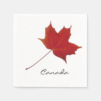 canadian red maple leaf paper napkin