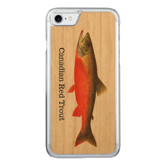 Canadian Red Trout Fish Carved iPhone 8/7 Case