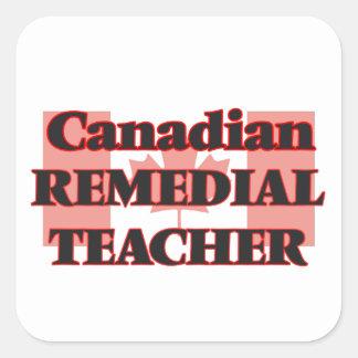 Canadian Remedial Teacher Square Sticker