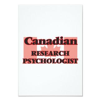 Canadian Research Psychologist 9 Cm X 13 Cm Invitation Card