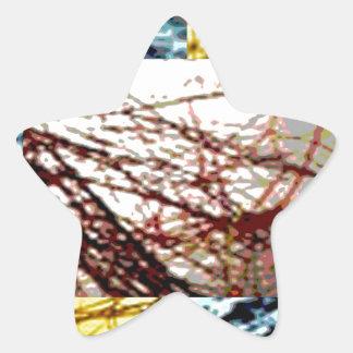 Canadian Resources - Gold Glitter Strands Star Sticker
