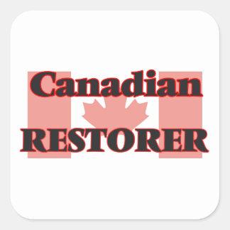 Canadian Restorer Square Sticker