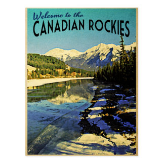 Canadian Rockies Postcard
