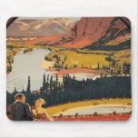 Canadian Rockies Travel Poster MousePad