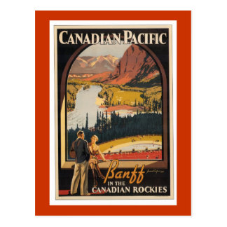 Canadian Rockies Travel Poster Vert Postcard