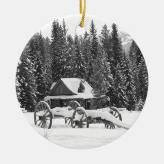 Canadian Rocky Mountains Winter Wonderland Christmas Ornament