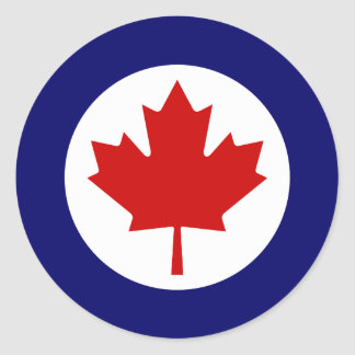 Canadian Roundel Classic Round Sticker