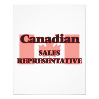 Canadian Sales Representative 11.5 Cm X 14 Cm Flyer