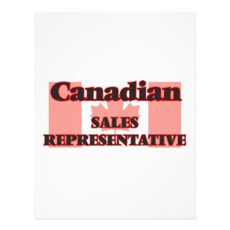 Canadian Sales Representative 21.5 Cm X 28 Cm Flyer