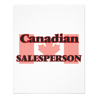 Canadian Salesperson 11.5 Cm X 14 Cm Flyer