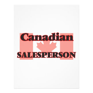 Canadian Salesperson 21.5 Cm X 28 Cm Flyer