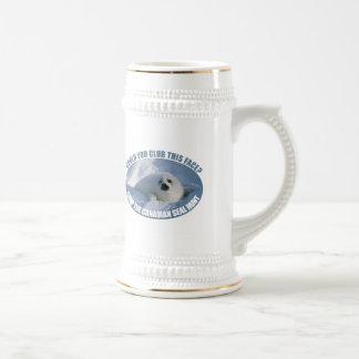 Canadian Seal Hunt Beer Stein Mug