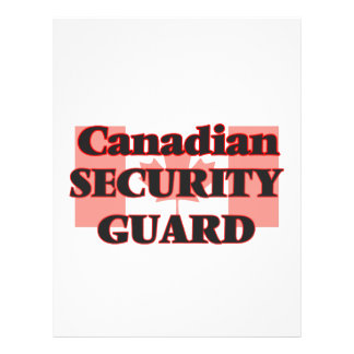 Canadian Security Guard 21.5 Cm X 28 Cm Flyer