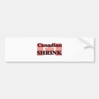 Canadian Shrink Bumper Sticker