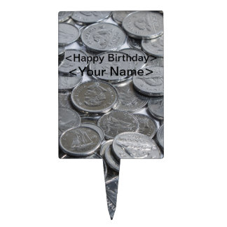 Canadian Silver Coins Cake Picks