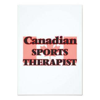 Canadian Sports Psychologist 13 Cm X 18 Cm Invitation Card