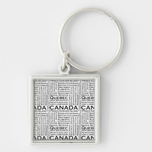 Canadian States & Cities Keychains