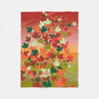 Canadian Sunset Fleece Blanket