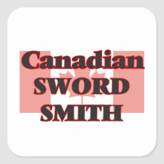 Canadian Sword Smith Square Sticker