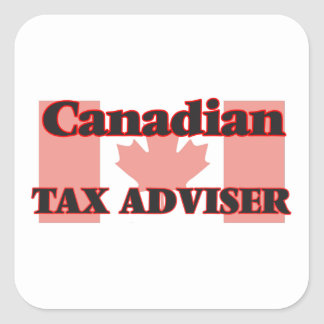 Canadian Tax Adviser Square Sticker