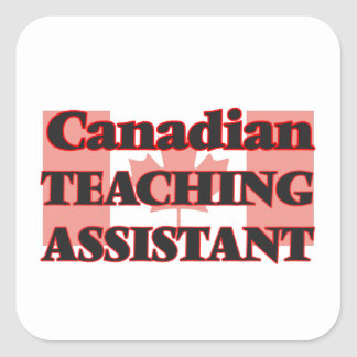 Canadian Teaching Assistant Square Sticker