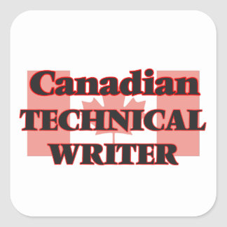 Canadian Technical Writer Square Sticker