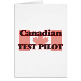 Canadian Test Pilot Greeting Card