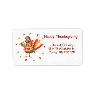Canadian Thanksgiving Baby Turkey Address Label